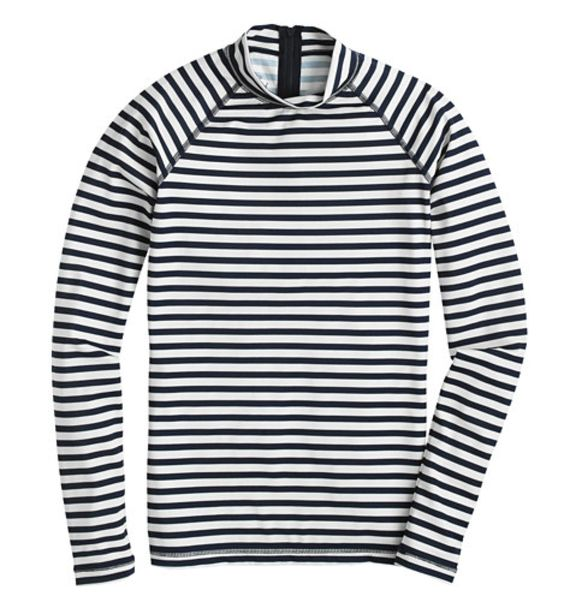Sailor Stripe Rash Guard | On sale at JCrew