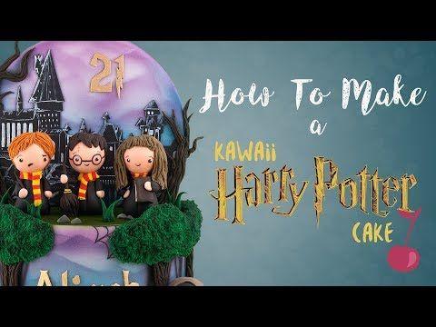 Cute Kawaii Harry Potter Cake Tutorial How To Cherry School Youtube Harry Potter Cake Harry Potter Birthday Cake Cute Harry Potter