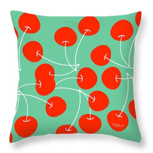 POP YOUR CHERRY Spun Polyester Square Pillow