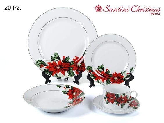Vajilla de poinsetia poinsettia dinnerware set christmas dinnerware pinterest cookware - Vajillas navidenas ...