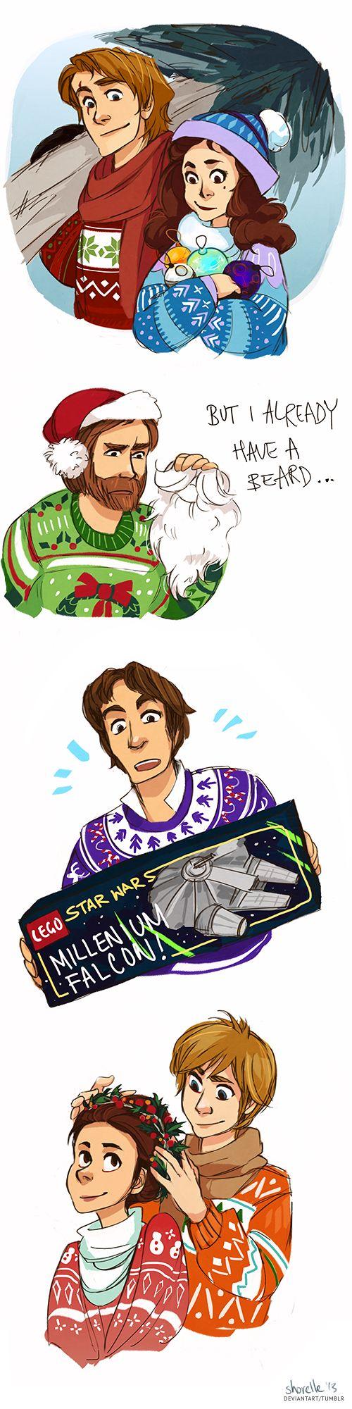 a star wars holiday special by shorelle.deviantart.com on @deviantART<<<<< So cute!