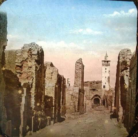 الباب الشرقي عقب احداث 1860 Damascus Syria Damascus Historical Pictures