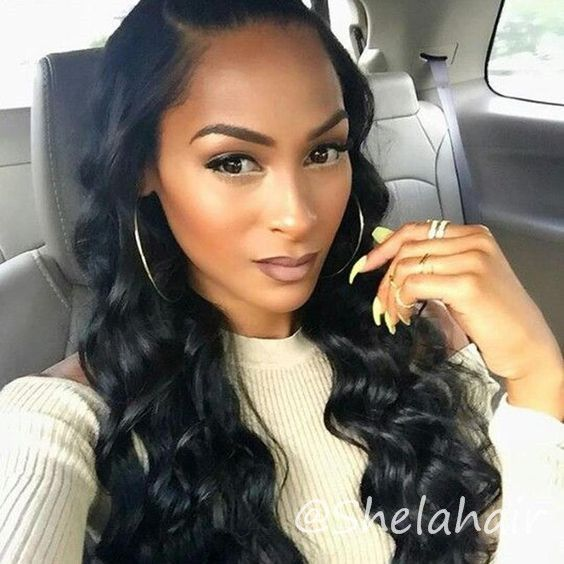 Loose Wave Side Part Sew In With Curls Loose Wave Hairstyles Flexi Rods Weave Black Woman In White Body Wave Hair Hair Waves Loose Waves Hair