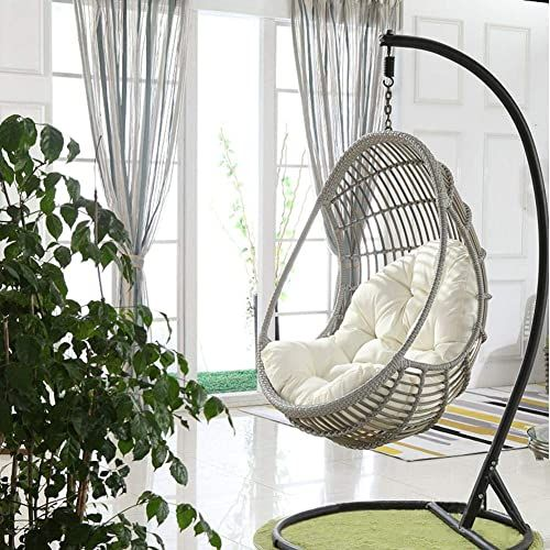 Round Hanging Chair With Cushion Hanging Chair Swinging Chair Patio Furniture Cushions