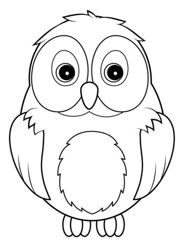 Cute Owl coloring page from Owls category Select from