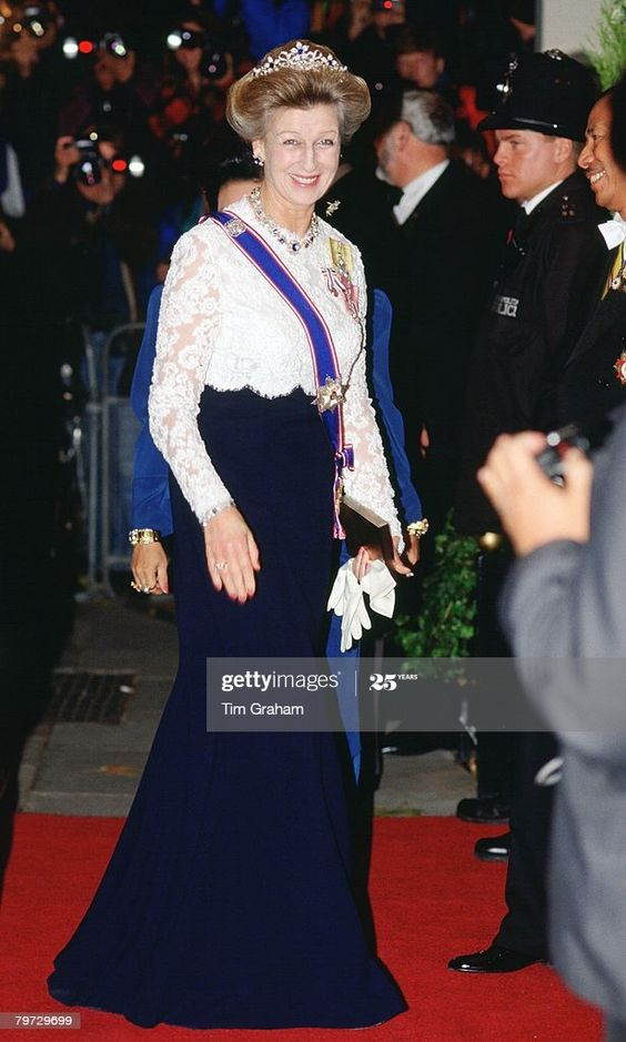 Princess Alexandra at the Dorchester Hotel for the Return Banquet given by the Agong of Malaysia  (Photo by Tim Graham Photo Library via Getty Images)
