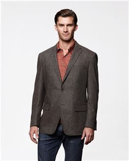English Tweed Sport Coat with a colored dress shirt underneath