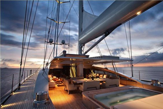 Vertigo  #sailing #sy #vertigo #yacht #deck #sea #sundown #sunset #evening #sailboat #sailingyacht #sailingsplendour by sailingsplendour