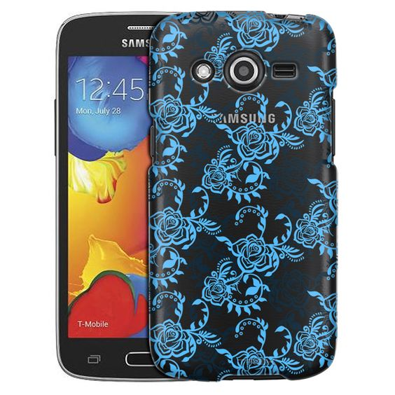 Samsung Galaxy Avant Blue Tea Roses Case