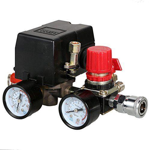 Secbolt 90 120psi Air Compressor Pressure Control Switch With Pressure Regulator Gauges Safety Valve Fittings Set Secbolt 90 120psi Compressor Pressure Co