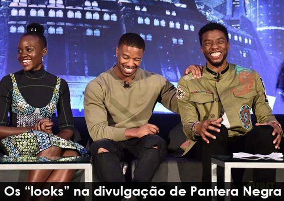 """Os """"looks"""" na divulgação de Pantera Negra"""