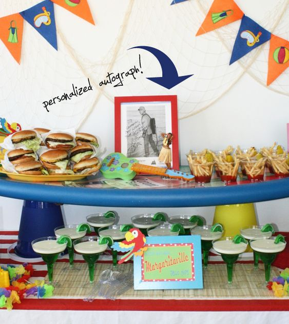 Jimmy Buffet party...french fry cups