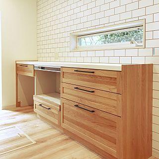 キッチン キッチンの窓 背面収納 カップボード お気に入りの空間 などのインテリア実例 2017 10 07 16 47 17 Roomclip ルームクリップ カップボード キッチン ウッドワン