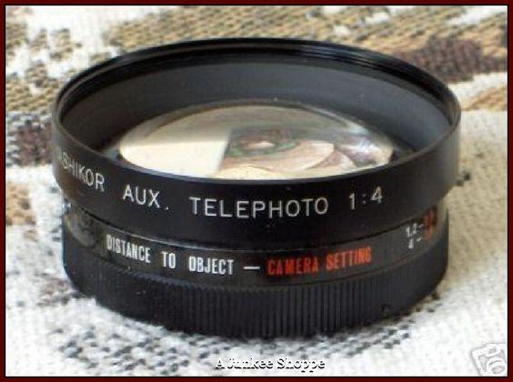YASHICA YASHIKOR Y506 Auxilliary Telephoto 1:4 Camera Lens 1970's Electro 35 Japan   HP 447  http://ajunkeeshoppe.blogspot.com/
