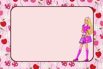 Invitaciones para imprimir gratis de Barbie Escuela de Princesas.