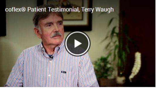 See coflex patient Terry Waugh explain how coflex surgery eased his pain -- and gave him back the mobility he craved [VIDEO]: https://www.youtube.com/watch?v=Tvs3JCoOMAQ&list=UU4EoYSnawzAMo0objtyT4cQ #stenosis #spine #spinalstenosis #backpain #backproblems #backsurgery
