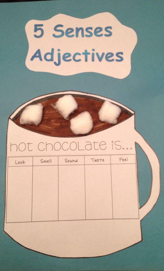Five senses adjectives | 2nd grade | Pinterest