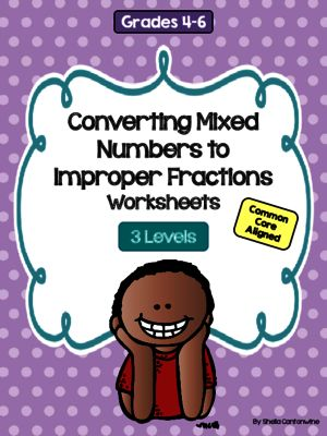 math worksheet : converting mixed numbers to improper fractions worksheets 3  : Converting Fractions To Mixed Numbers Worksheets