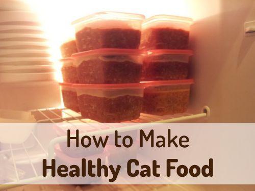 Homemade Cat Food | purelivingforlife.com #pets #cats #diy