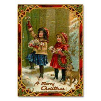 vintage Christmas business card