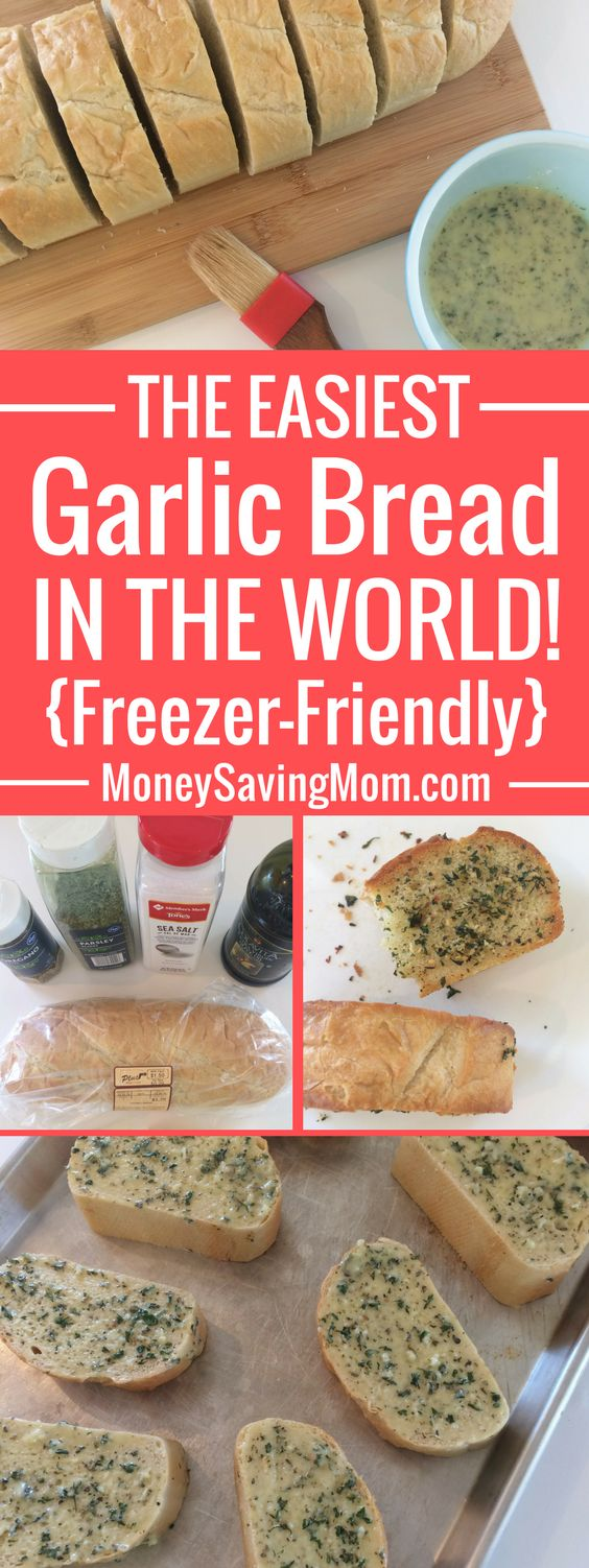 This garlic bread recipe is SO easy and it's even freezer-friendly!