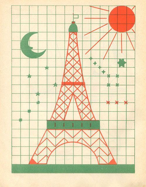 Fernand nathan cahier de dessin au carreau vintage enfant paris toureif - Dessin avec petit carreau ...