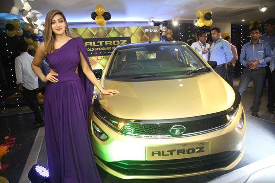 Miss Super Globe World Akshara Reddy Launched TATA ALTROZ at OMR