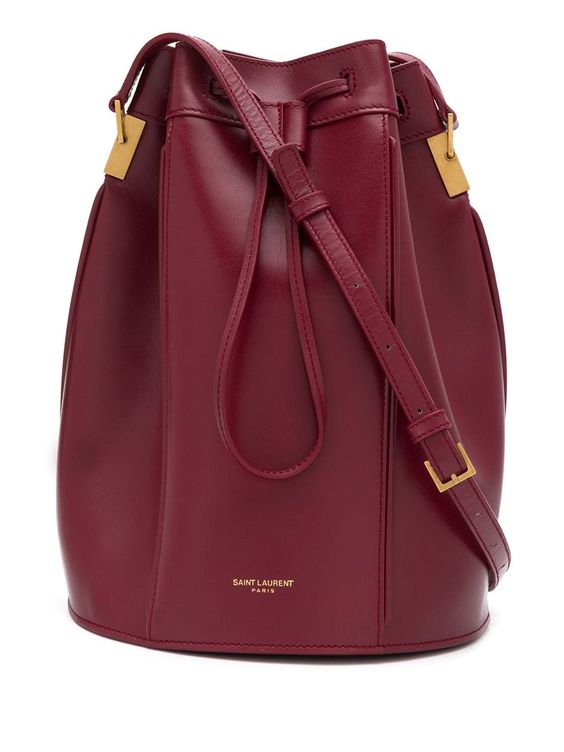 Saint Laurent Talitha medium bucket bag - Red