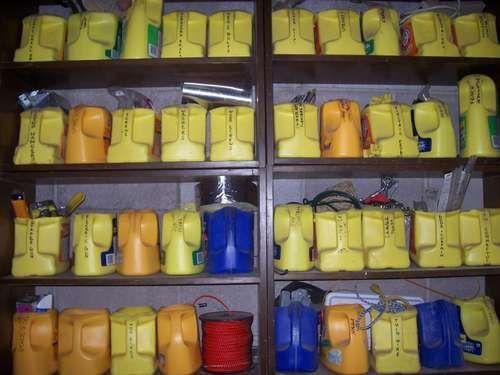 Storage in the garage.