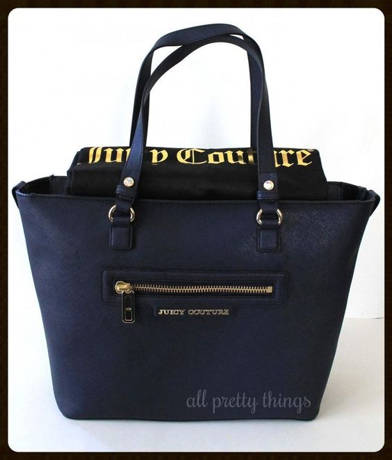 chloe fake - NWT JUICY COUTURE Navy Regal Blue SOPHIA Saffiano Leather Zipper ...