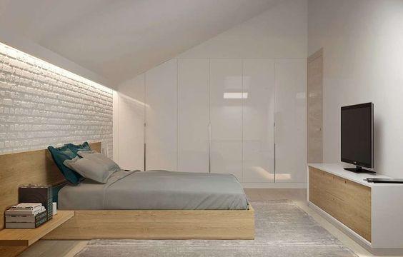 Arredare la camera da letto in mansarda | 客房区 | Pinterest ...