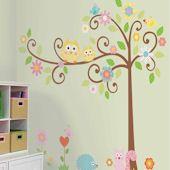 wall design: Nursery Idea, Girl Room, Kids Room, Baby Girl, Wall Decal, Baby Room