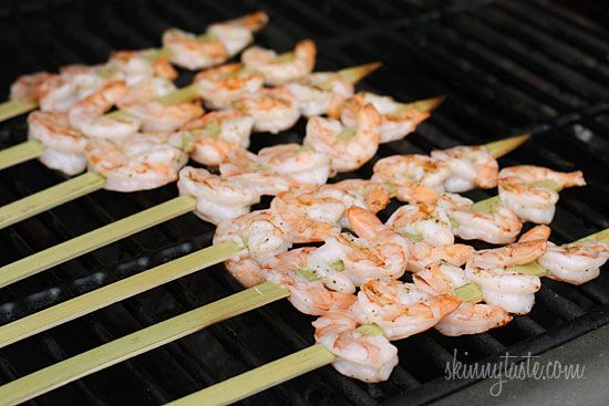 Bangin' Grilled Shrimp Skewers | Skinnytaste.  These are pretty darn healthy if using low or non fat mayo and a quick weeknight supper.  I liked them and am keeping them in my dinner rotation for when shrimp are on sale.