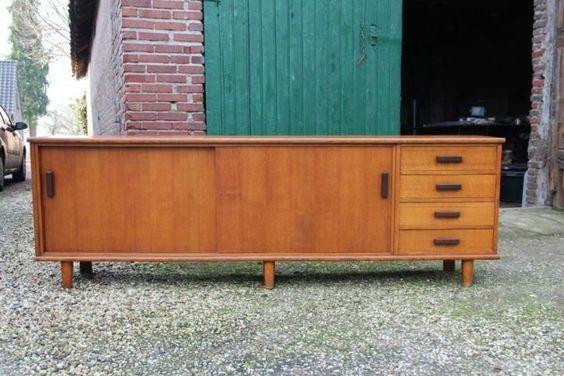 Retro dressoir vintage design sixties kast tv meubel Pastoe   meubelen   Pinterest   TVs