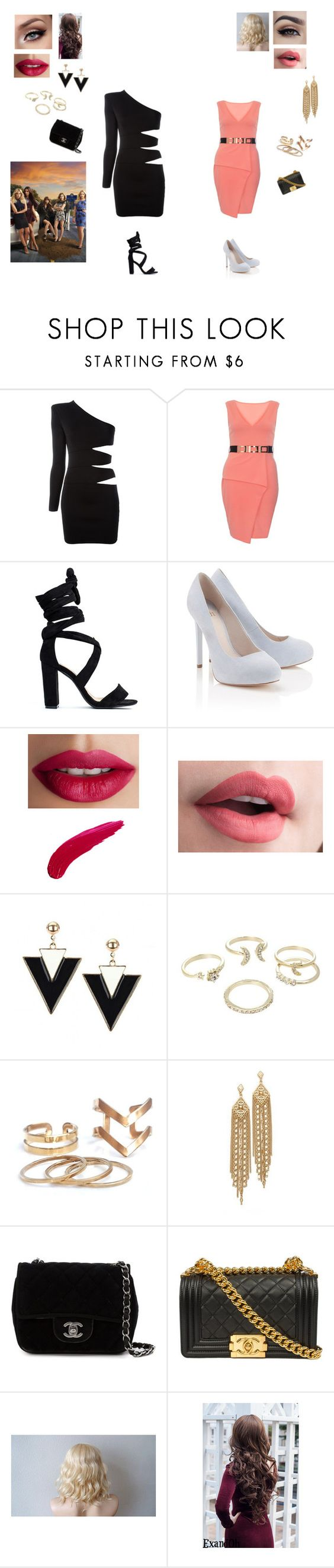 """""""PLL"""" by calilvsla ❤ liked on Polyvore featuring Balmain, Dorothy Perkins, Lipsy, TheBalm, Capwell + Co and Chanel"""