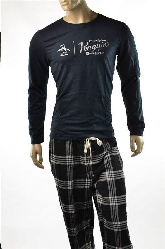 Calvin Klein Mens 2 PC Pajama Pants Lounge Set Pj's Sleepwear Sz S ...