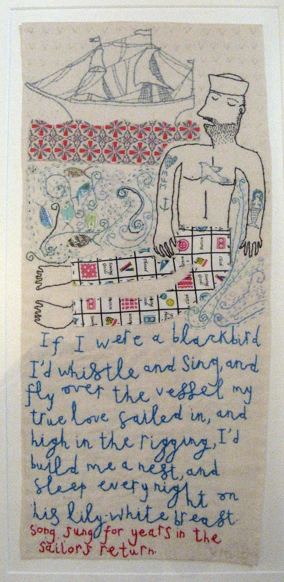 Vicky Lindo artist, designer and maker: My sailors left me.