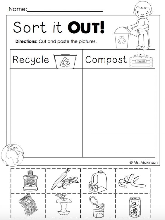 8 Compost Preschool Theme Sort It Out Worksheet Check More At