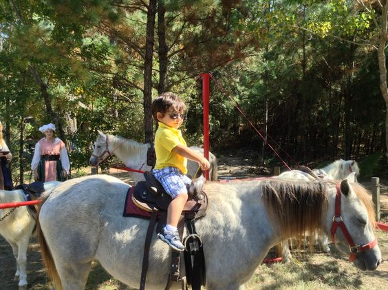 Tristan on his 1st pony ride.