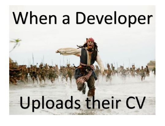 Image result for meme when a developer uploads cv