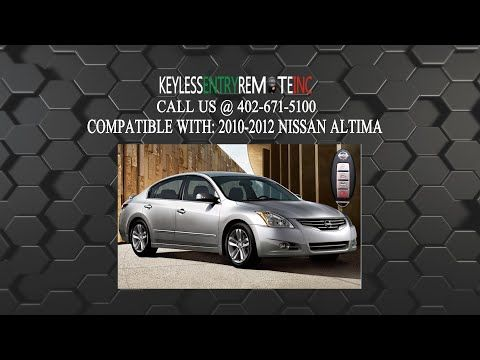 How To Replace A Nissan Altima Key Fob Battery 2007 2012 Nissan Altima Nissan Altima