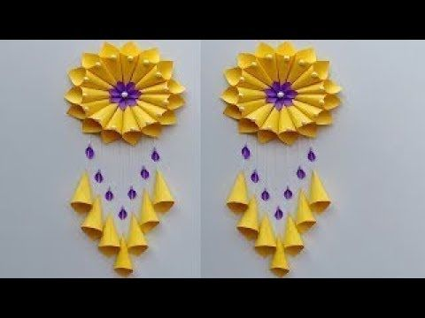 Paper Craft Wall Hanging Craft Ideas Room Decoration Diy Art And Craft Wall Hanging Crafts Diy Paper Crafts Decoration Flower Diy Crafts