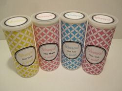 Free printable to cover a pringles can to hold cookies.  Lots of ideas on this website!