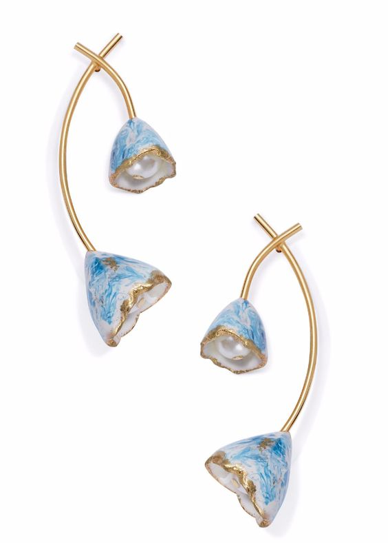 Gifts for Grads: Tory Burch Spring/Summer Runway Exclusive Flower Bud Earring