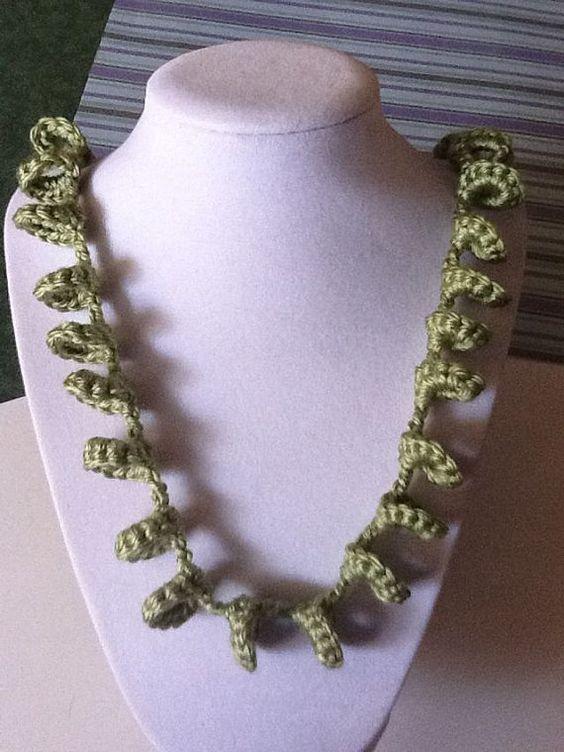 Loopsy Loop Handmade Crochet Neckalce by joywelry2love on Etsy, $16.99