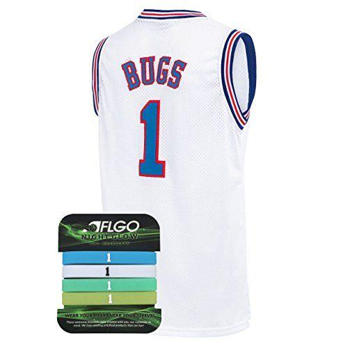 AFLGO Lola Space Jam Jersey Basketball Jersey Include Set GLOW IN THE DARK Wristbands S-XXL White