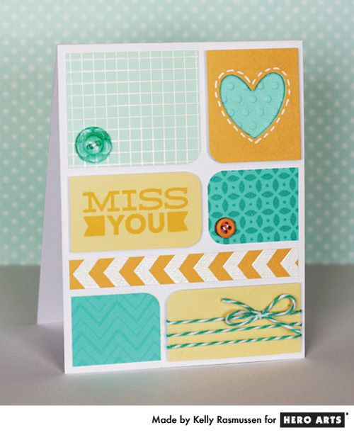 Card by Kelly Rasmussen #HeroArts: Cards Ideas, Cardmaking Idea, Arts Cardmaking, Art Cards, Cards Paper, Card Ideas, Cards Cards