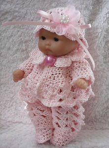 5 Inch Berenguer Doll Clothes for sale | ... about CROCHETED SET/CLOTHES FOR 5 INCH BERENGUER DOLL/ITTY BITTY/ OOAK
