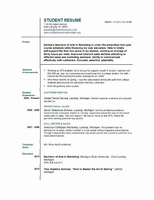 40 First Job Resume Template In 2020 Job Resume Template First