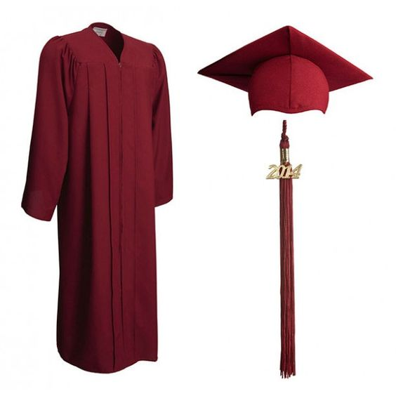 Maroon Graduation Cap and Gown | Buy Cheap Cap and Gowns Online ...